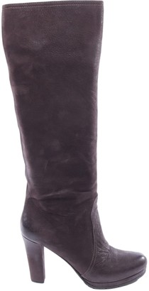 Prada Brown Leather Boots