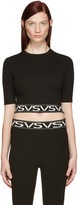 Versus Black Cropped 'VS' Pullover