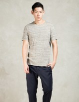 Wings + Horns Grey Splash Jersey S/s Crewneck T-shirt