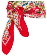 Dolce & Gabbana Printed Silk Scarf - Red