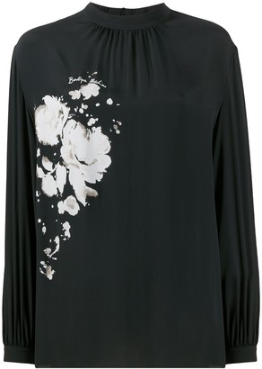 Boutique Moschino Floral Silk Top