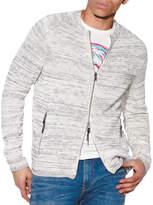 John Varvatos Star USA Men's Baptiste Zip-Front Sweater