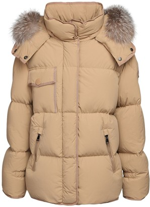 Moncler Armen Hooded Cotton Nylon Down Jacket