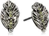 Vera Bradley Feathers Stud Earrings in Silver Tone