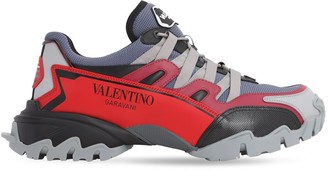 "Valentino ""Climbers"" Mesh & Leather Sneakers"