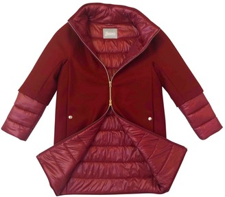 Herno Red Wool Coat for Women