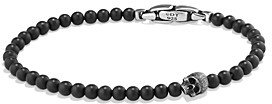 David Yurman Spiritual Beads Skull Bracelet with Black Onyx in Sterling Silver