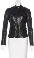 Tory Burch Leather Mock Neck Jacket