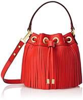 Milly Essex Fringe Mini Drawstring Bucket Cross Body Bag