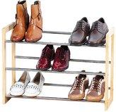 Kesper Variable Shoe Rack, Pine, Brown