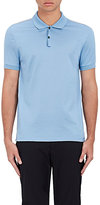 Lanvin Men's Cotton Embroidered Polo Shirt-BLUE