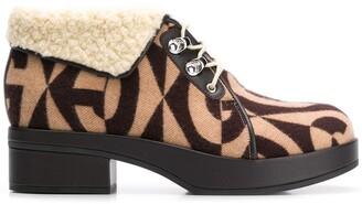 Gucci Monogram Print 45mm Ankle Boots