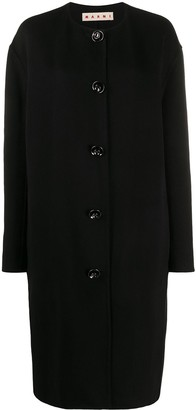 Marni Collarless Single Breasted Coat