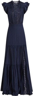Veronica Beard Satori Eyelet Maxi Dress