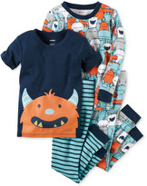 Carter's 4-Pc. Monsters Pajama Set, Baby Boys (0-24 months)