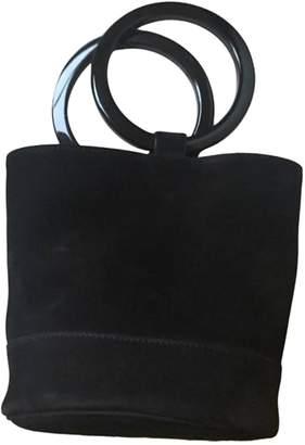 Simon Miller Medium Bonsai Black Suede Handbags