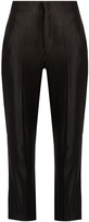 Isabel Marant Roan high-rise sandwashed-satin trousers