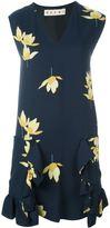 Marni 'Dawntreader' print ruffled dress