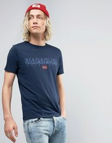 Napapijri Sapriol Logo T-Shirt in Navy