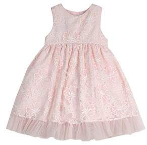 Laura Ashley Baby Girl's Sleeveless Embroidered Party Dress