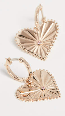 Marlo Laz 14k Mini Pour Toujours Heart Coin Earrings