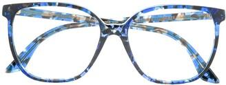 Emmanuelle Khanh Square Frame Speckled Glasses