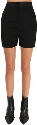 Haider Ackermann High Waist Wool Shorts