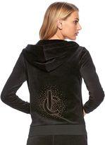 Juicy Couture Women's Embellished Velour Hoodie Jacket