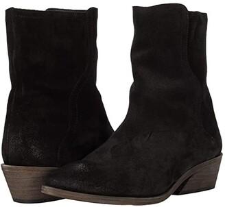 Frye Farrah Wave Short (Black Oiled Suede) Women's Shoes