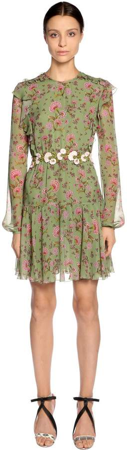 Giambattista Valli Floral Printed Silk Georgette Dress