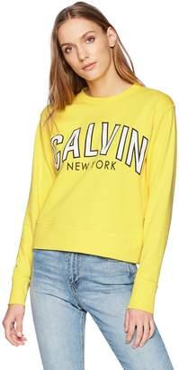 Calvin Klein Jeans Women's Flocked Logo Sweatshirt