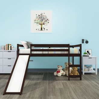 "Isabelle & Maxâ""¢ Slaton Kids Twin Loft Bed Isabelle & Maxa Bed Frame Color: Espresso"