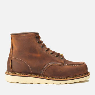 Red Wing Shoes Men's 6 Inch Moc Toe Double Welt Leather Lace Up Boots - Copper Rough and Tough