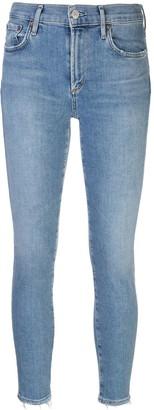 AGOLDE Acid Wash Cropped Jeans