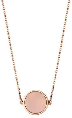 ginette_ny 18K Rose Gold & Pink Mother-Of-Pearl Mini Pendant Necklace