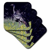 3dRose LLC Wild Turkey Gobbler Ceramic Tile Coaster, Set of 4