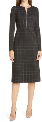 Judith & Charles Lina Long Sleeve Plaid Dress