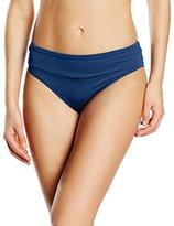 Moontide Women's Contours Ruched Front Briefs Plain Bikini Bottoms