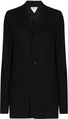 Bottega Veneta Split-Cuff Single-Breasted Blazer