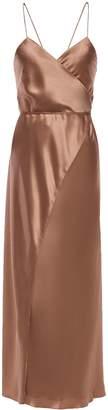 Mason by Michelle Mason Open-back Silk-charmeuse Midi Wrap Dress