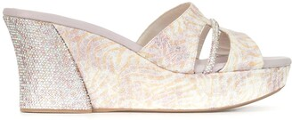Rene Caovilla Crystal Embellished Cutout Sandals