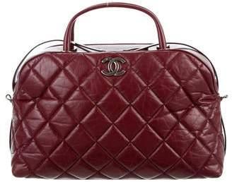 Chanel Aged Calfskin Small Bowling Bag
