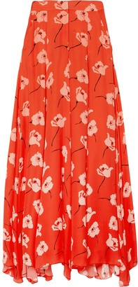 Carolina Herrera Floral-Print Wide-Leg Trousers