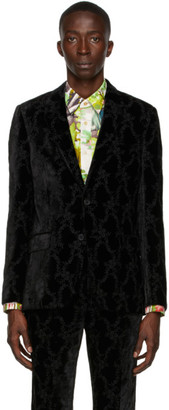 Paul Smith 50th Anniversary Black Velvet Floral Blazer