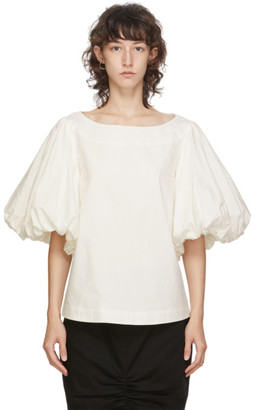 Edit White Balloon Sleeve Top
