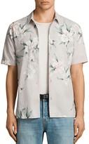 AllSaints Layback Floral-Print Button-Down Shirt
