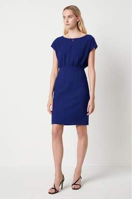 French Connection Womens Blue Whisper Short Sleeve Dress - Blue
