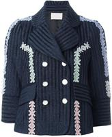 Peter Pilotto velvet lurex jacquard jacket - women - Cotton/Ramie/Polyamide/Virgin Wool - 8
