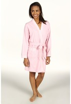 Karen Neuburger Cotton Club L/S Short Kimono Robe (Heather Pink) - Apparel