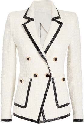 Veronica Beard Cato Double Breasted Tweed Blazer